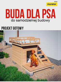 Projekt gotowy budy dla psa