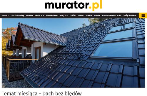 Dach bez błędów - w czerwcu na Murator.pl