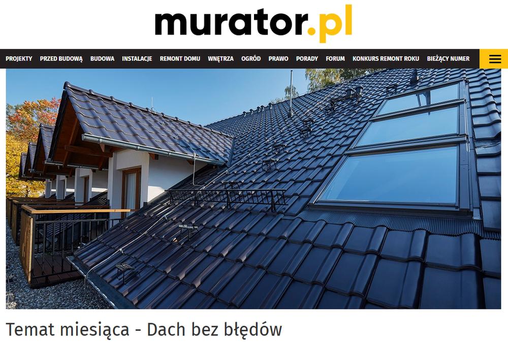 Dach bez błędów - Murator.pl