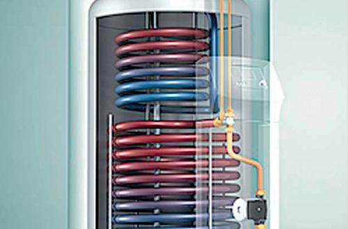 Instalacja do ciepłej wody odbierająca ciepło z kolektorów