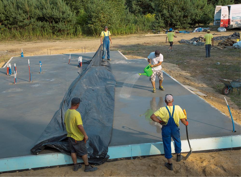 Dzień 4. – betonowanie płyty