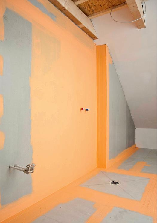 Łazienka w domu drewnianym